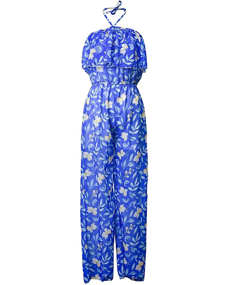 Blue Ivy Mommy Chiffon Long Pant Romper - Castle Rose Boutique