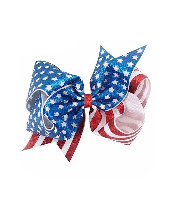 American Girl Sparkly Jumbo Clip Bow - Castle Rose Boutique