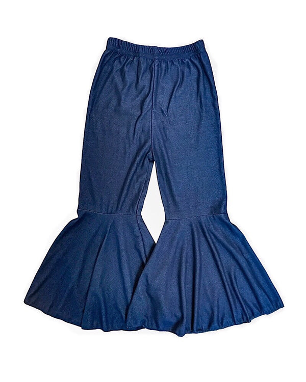 Soft Denim Bell Bottoms Navy