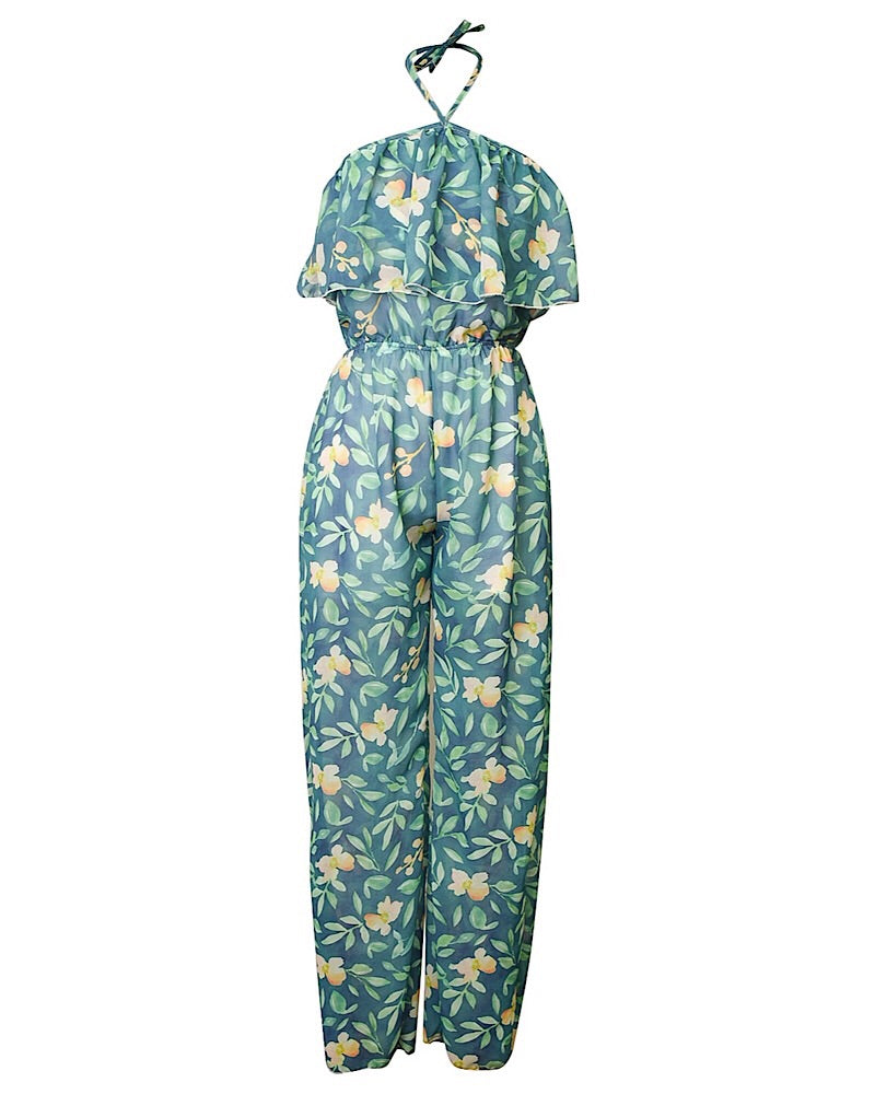 Ivy Mommy Chiffon Long Pant Romper