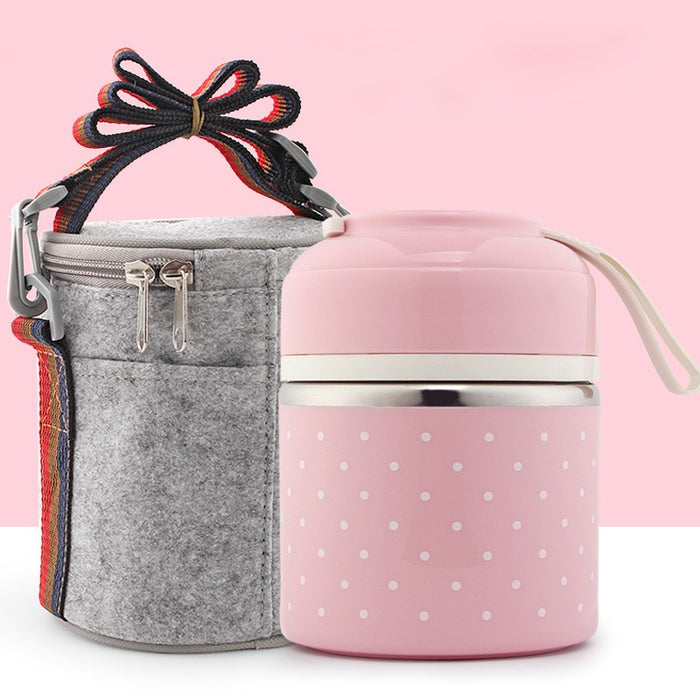 Bento Thermal Lunch Box Leak-Proof Stainless Steel
