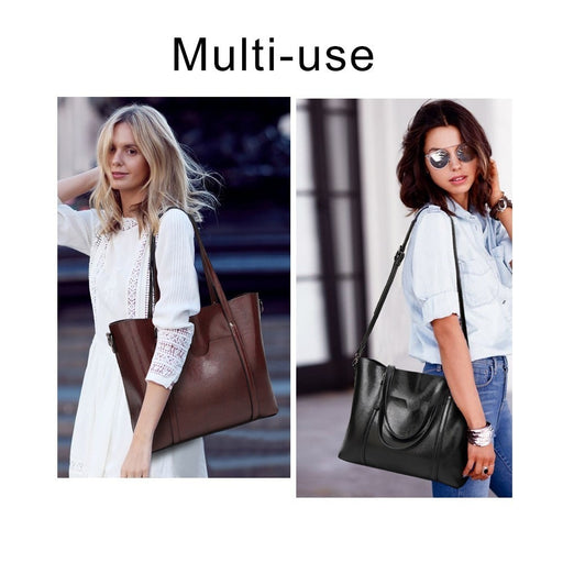 Herald Fashion Large Capacity Women Tote Bag High Quality Leather Female Shoulder Bag Causal Women Handbag Lady's Messenger Bags