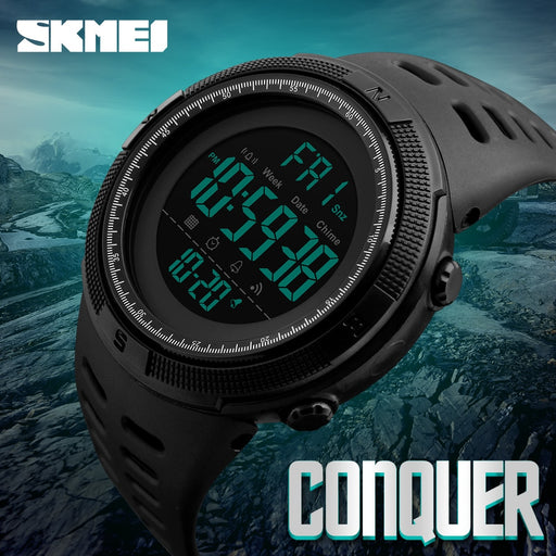 SKMEI Famous Luxury Brand Mens Sport Watches Countdown Waterproof Digital Military Style