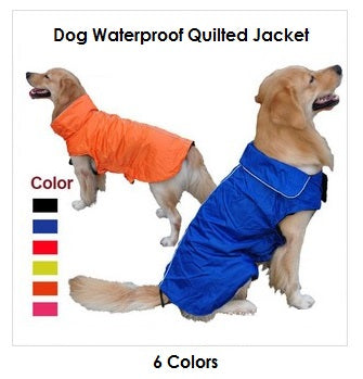 Dog Waterproof Quilted Jacket