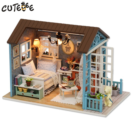 Doll House Miniature DIY Dollhouse With Furnitures Wooden House Toys