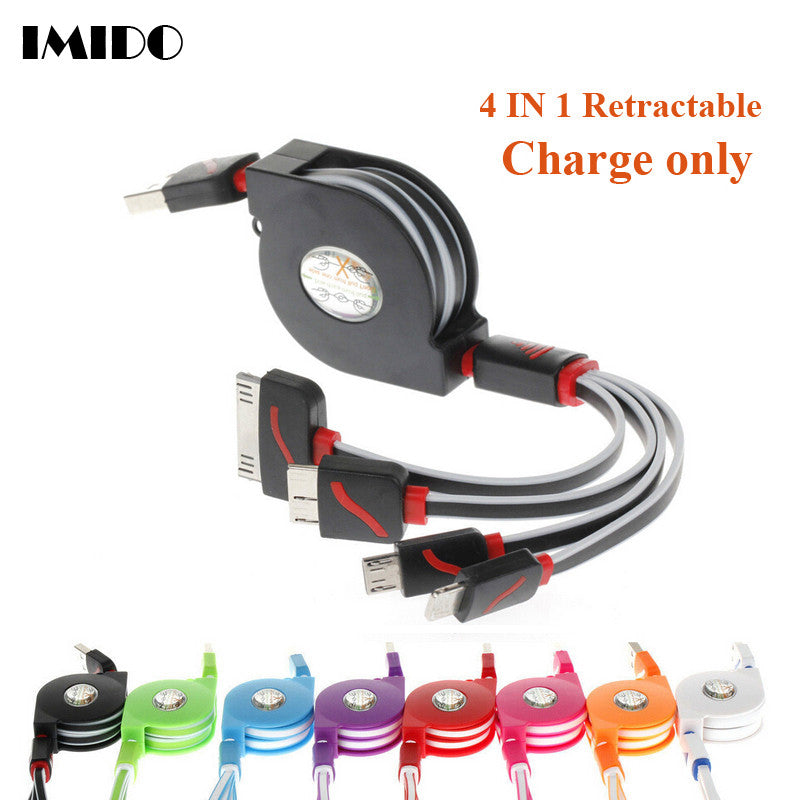 Retractable USB 4 in 1 Charging Cable