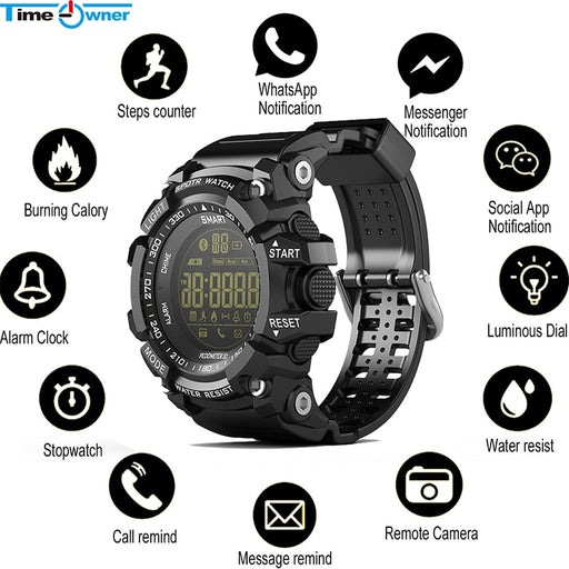 Smart Watch Notification Remote Control Pedometer Sport Watch