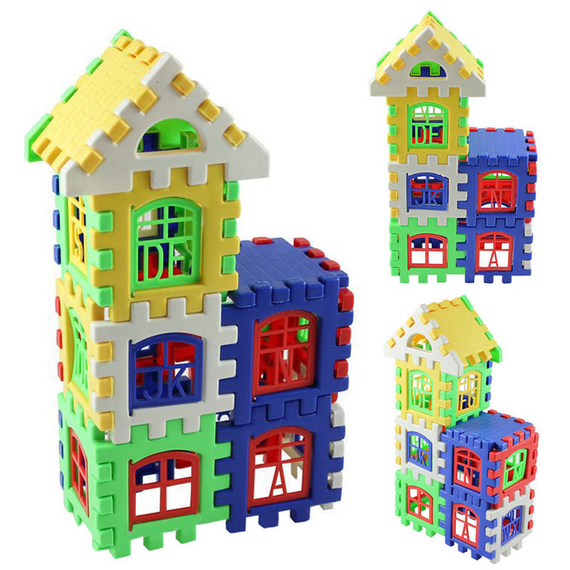 24pcs/set Baby Kids House Building Blocks Children Early Educational
