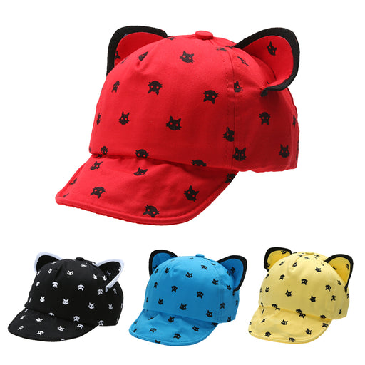 Baby Caps Cute Cat Ears Baseball Cap For Children