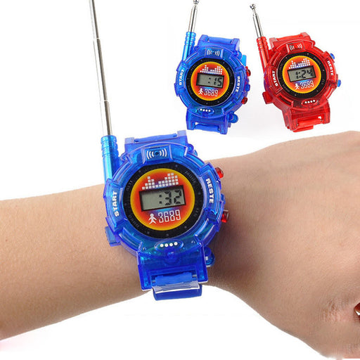 2Pcs/Pair Novelty 7in1 Kids Toys Watch Walkie-talkie Intercom (Without Battery)