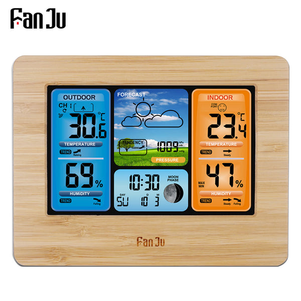 FanJu FJ3373 Weather Station Barometer Thermometer Hygrometer Wireless Sensor LCD