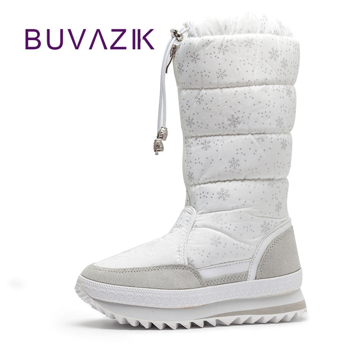 Warm snow boots high fashion women winter non-slip thick cotton shoes