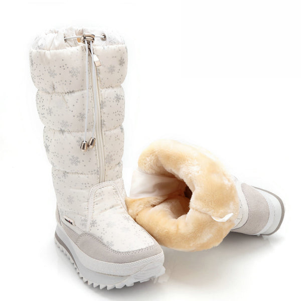 Winter boots platform thick plush warm non-slip waterproof