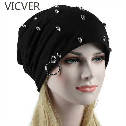 Winter Cap Skull Slouchy Hats For Women / Men  Hip Hop Beanies