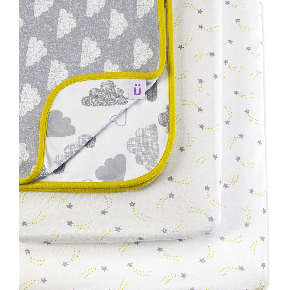 Snuz 3pc Crib Bedding Set – Cloud Nine