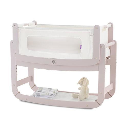 SnuzPod² Bedside Crib 3 in 1 Blush with Mattress