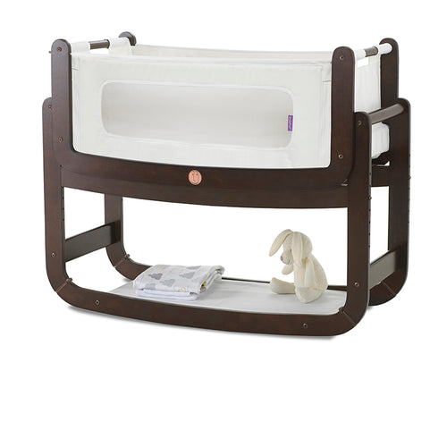 SnuzPod² Bedside Crib 3 in 1 Espresso with Mattress