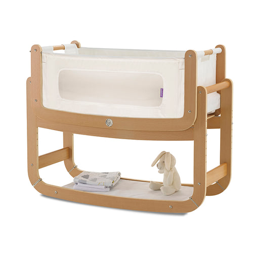 SnuzPod² Bedside Crib 3 in 1 Natural with Mattress