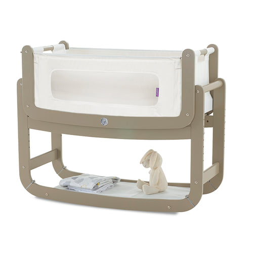 SnuzPod² Bedside Crib 3 in 1 Putty with Mattress