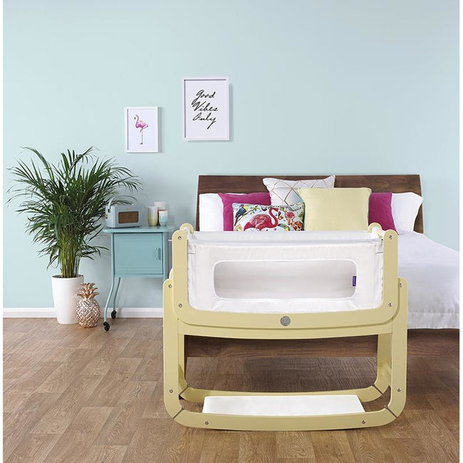 SnuzPod² Bedside Crib 3 in 1 Sherbet with Mattress