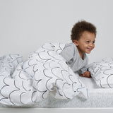 Snuz Cot & Cot Bed Fitted Sheet – Wave Mono - Dash