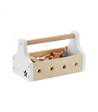 Load image into Gallery viewer, Kids Concept Wooden Tool Box - White