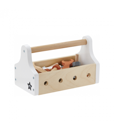 Kids Concept Wooden Tool Box - White