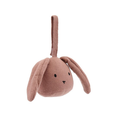Konges Slojd Activity Rabbit Rattle - Rose Fawn - Nursery Edit