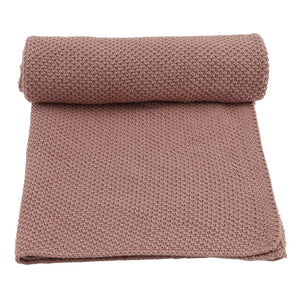 Konges Slojd Organic Cotton Baby Blanket - Rose Fawn - Nursery Edit