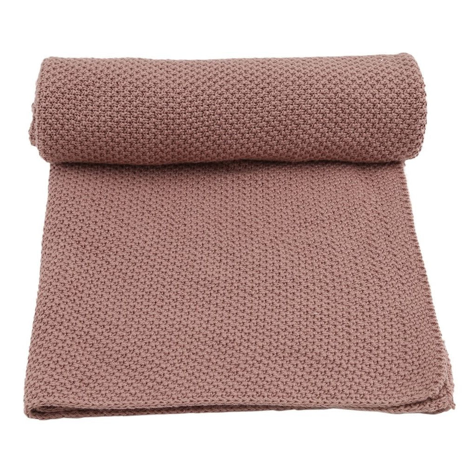 Konges Slojd Organic Cotton Baby Blanket - Rose Fawn