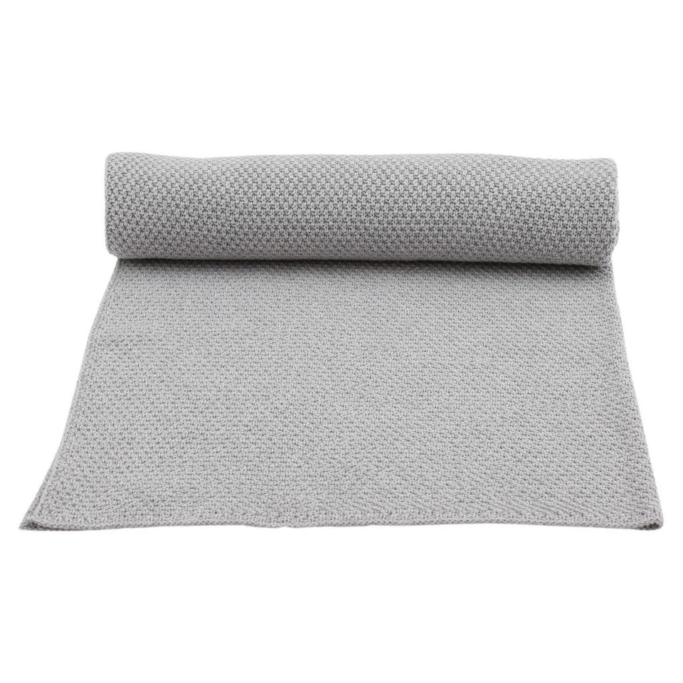 Konges Slojd Organic Cotton Baby Blanket - Grey Melange