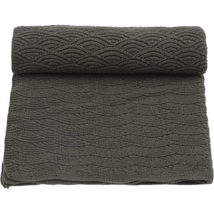 Konges Slojd Organic Cotton Baby Blanket - Ivy Green - Nursery Edit