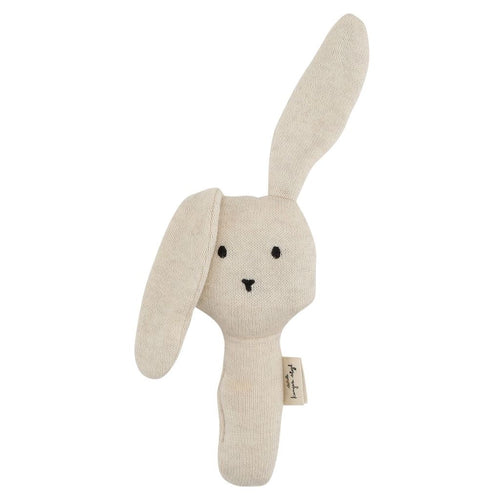 Konges Slojd Activity Rabbit Rattle - Off White Melange