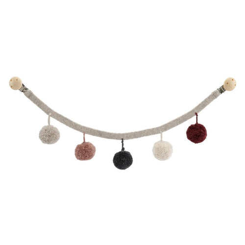 Konges Slojd Pom Pom Pram Garland - Grey Rose