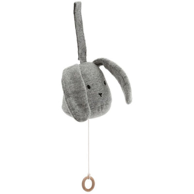 Konges Slojd Music Mobile Rabbit - Grey Melange - Nursery Edit