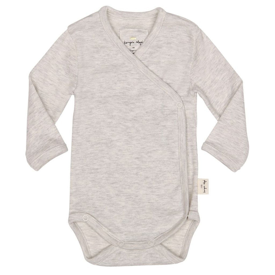 Konges Slojd Wrap Organic Body - Light Grey Melange