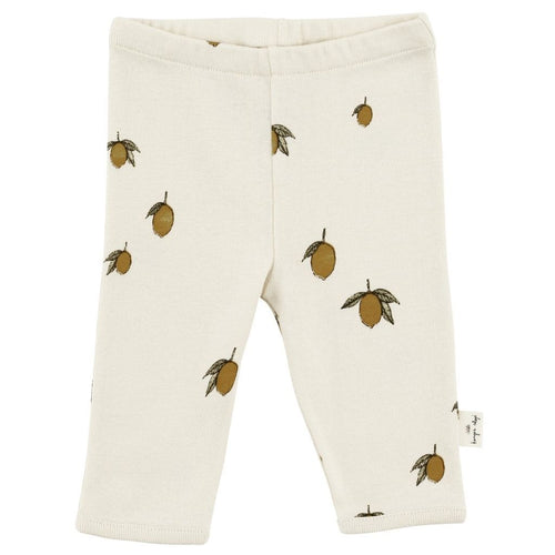 Konges Slojd Organic Leggings - Lemon - Nursery Edit