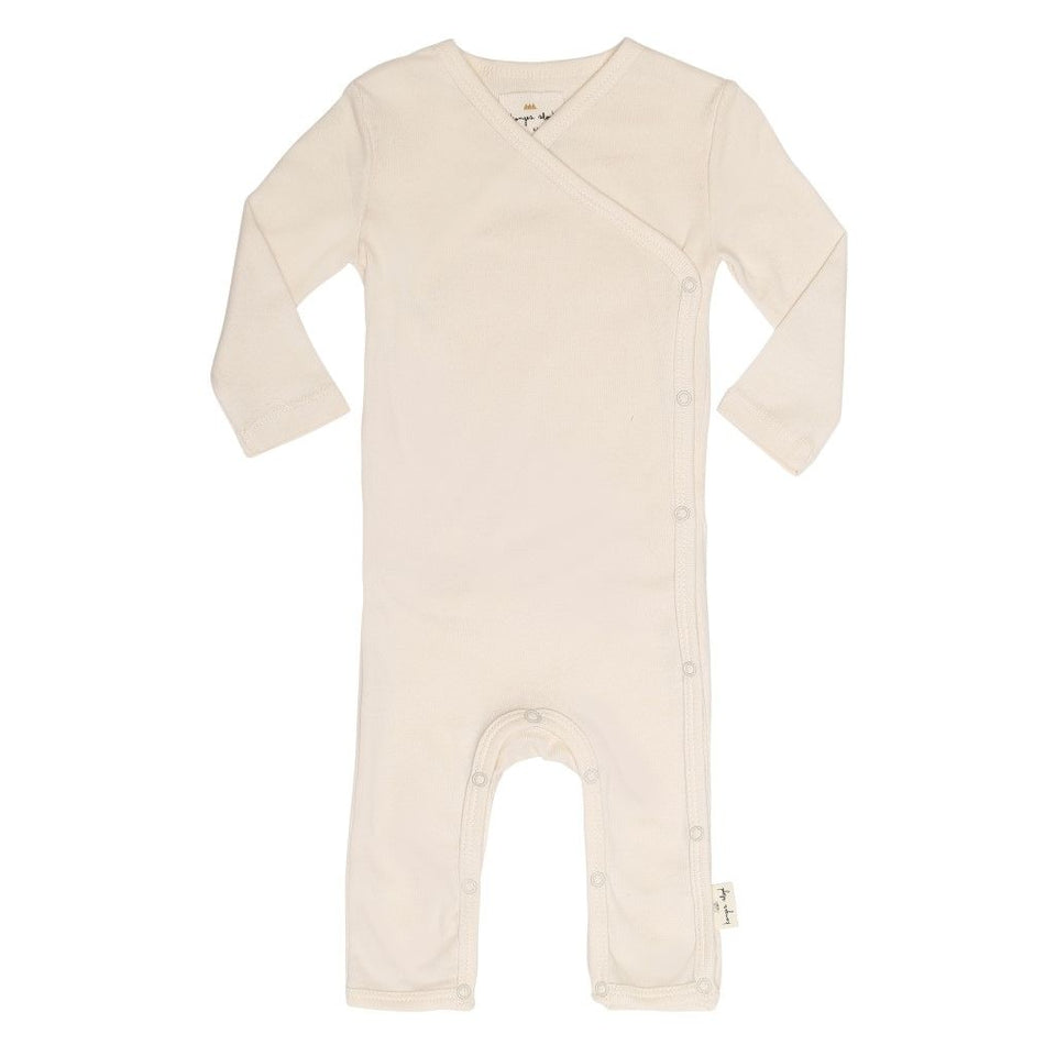 Konges Slojd Wrap Organic Onesie Sleepsuit - Natural