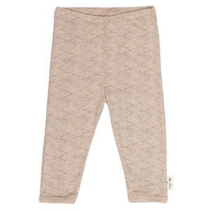 Konges Slojd Organic Leggings - Sea Shell Old Rose - Nursery Edit