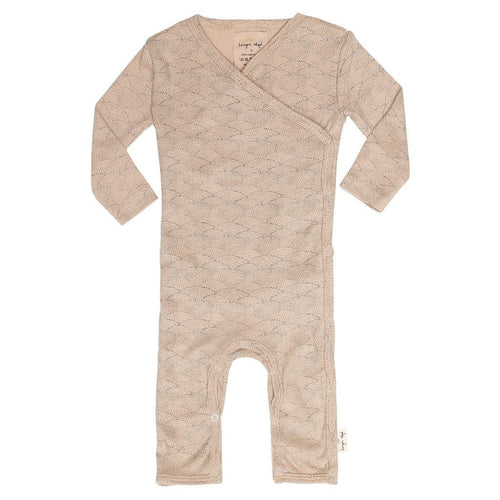 Konges Slojd Newborn Wrap Organic Onesie Sleepsuit - Seashell Rose - Nursery Edit