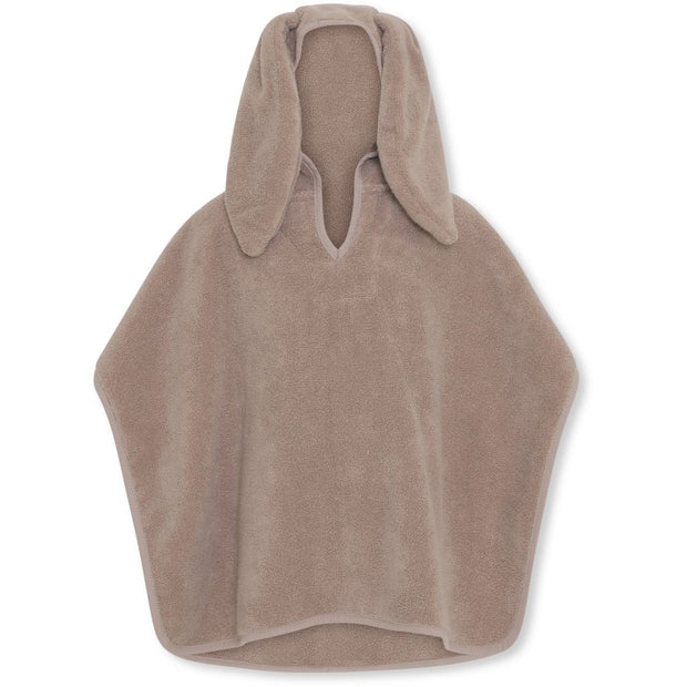 Konges Sløjd Organic Cotton Terry Poncho Towel - Bark