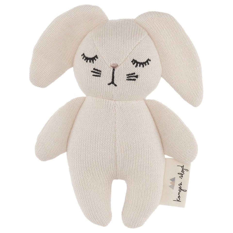 Konges Slojd Mini Rabbit Soft Toy - White