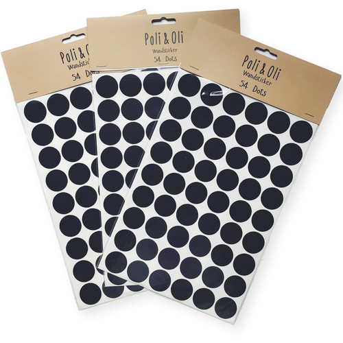 Poli & Oli Black Dots Wall Stickers - Nursery Edit