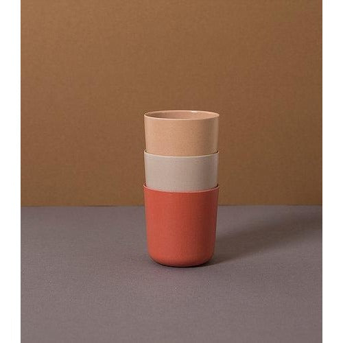 Cink Bamboo Cups 3 Pack - Brick, Rye, Fog - Nursery Edit