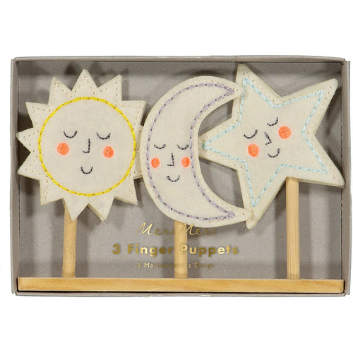 Sun, Moon, Star Finger Puppets