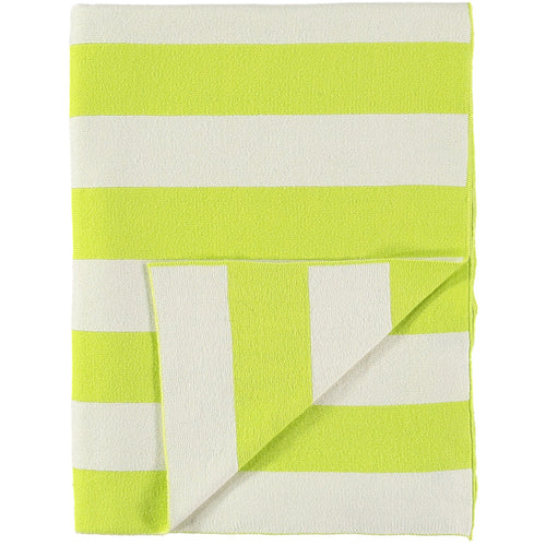 Stripe Blanket - Neon Yellow and Ivory