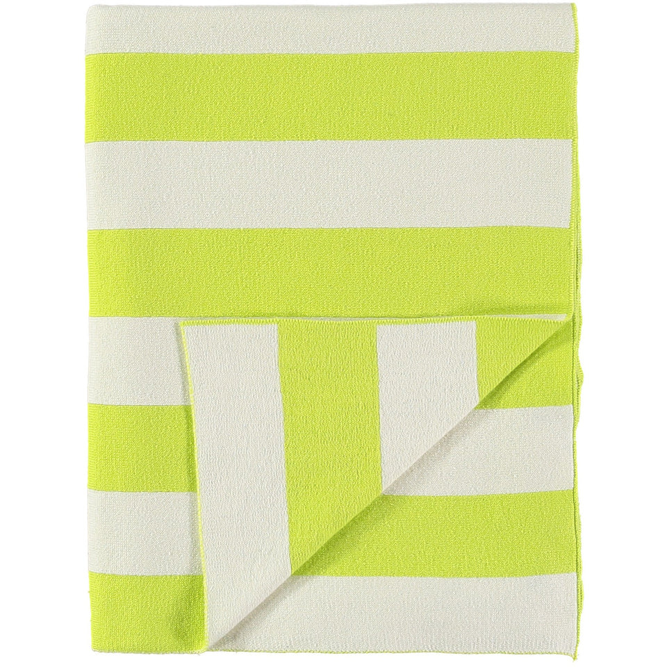 Meri Meri Stripe Blanket - Neon Yellow and Ivory