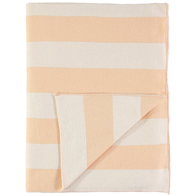 Meri Meri Stripe Blanket - Peach and Ivory - Nursery Edit