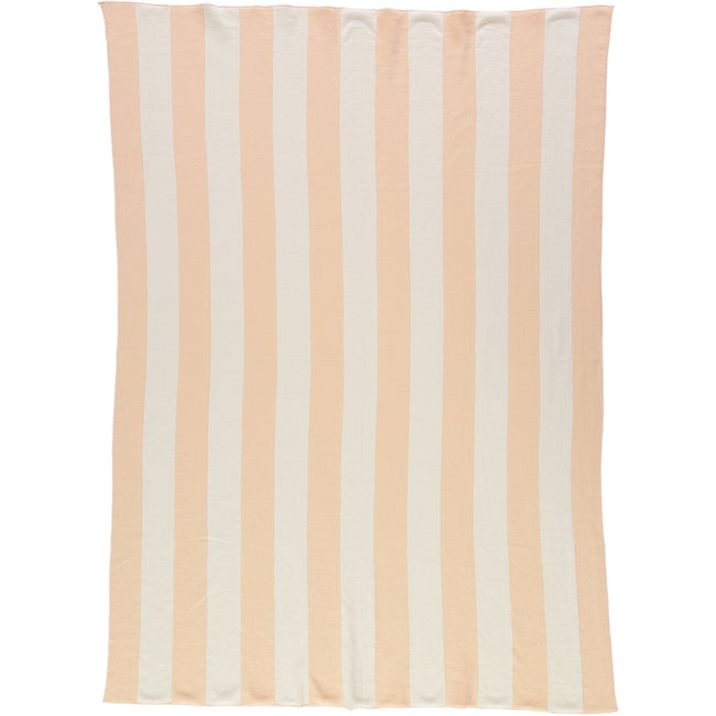 Stripe Blanket - Peach and Ivory