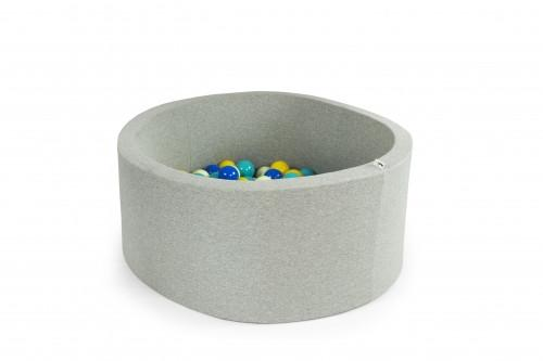 Misioo Light Grey Ball Pit + 200 Balls - Pick Your Colours